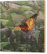 Magical Places For Butterflies Wood Print