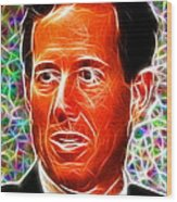 Magical Rick Santorum Wood Print