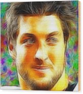 Magical Tim Tebow Face Wood Print