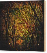 Magick Mall Wood Print by Chris Lord