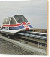 Magnetic Levitation Train Wood Print