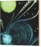 Magnetic White Dwarf Star Euvej0317-855 Wood Print