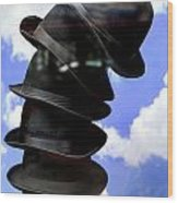 Magritte Hat Stand Wood Print