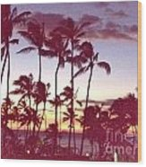 Mahalo For This Day Wood Print