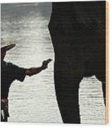 Mahut With Elephant Wood Print