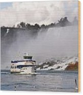 Maid Of The Mist At Niagara Falls Wood Print by Mark J Seefeldt