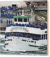 Maid Of The Mist Boat At Niagara Falls Wood Print