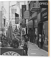 Maiden Lane San Francisco California - 5d19376 - Black And White Wood Print by Wingsdomain Art and Photography