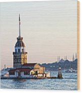 Maiden Tower In Istanbul Wood Print