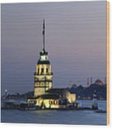 Maiden's Tower  At Sunset Wood Print