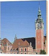 Main Railway Station In Gdansk Wood Print