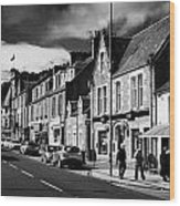 main road through the picturesque small town of Callander scotland uk Wood Print by Joe Fox