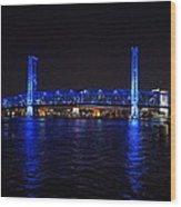 Main Street Bridge At Night Wood Print