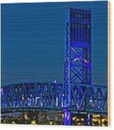 Main Street Bridge Jacksonville Wood Print