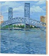 Main Street Bridge Wood Print