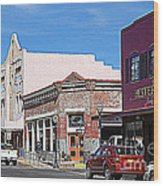 Main Street In Silver City Nm Wood Print