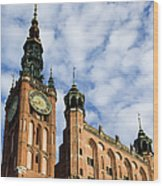 Main Town Hall In Gdansk Wood Print