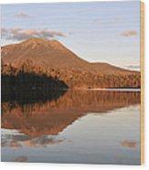 maine 25 Baxter State Park Mt. Khatahdin Reflection in Daicey Pond Wood Print