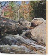 maine 29 Baxter State Park Trailside Stream Wood Print