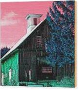 Maine Barn Wood Print by Marie Jamieson