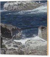 Maine Coast Surf Wood Print