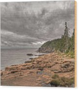 Maine Coastline. Acadia National Park Wood Print