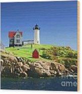 Maine Light Painting Look Wood Print
