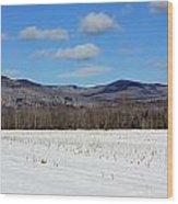 Maine Mountains Wood Print