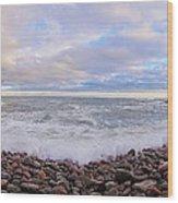 Maine Ocean  Wood Print