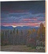 Moosehead Sunset Wood Print
