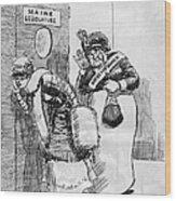 Maine: Womens Suffrage Wood Print