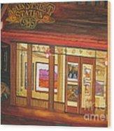 Mainstreet Station Wood Print by Vikki Wicks