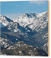 Majestic Rockies Wood Print