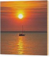 Majestic Sunset V2 Wood Print