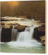Majestic Waterfalls Wood Print