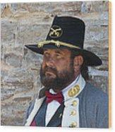 Major General Lunsford L.lomax Portrayed By Dan L. Carr 150th Anniversary Of The American Civil War  Wood Print