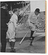 Major League Baseball. From Left Former Wood Print