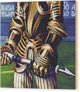 Major League Gladiator Wood Print