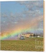 Make Your Own Rainbow Wood Print