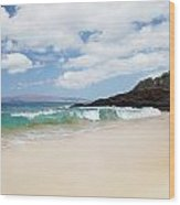 Makena Coast Wood Print