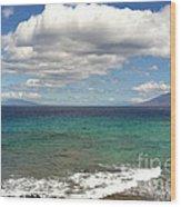 Makena Sea And Sky Wood Print