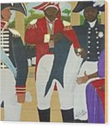 Making Of The Haitian Flag Wood Print by Nicole Jean-Louis