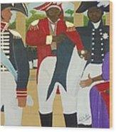 Making Of The Haitian Flag Wood Print