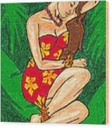 Malana Hula Girl Wood Print