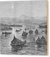 Malaya: Perak River, 1876 Wood Print
