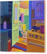 Malden Bathroom 1977 Wood Print