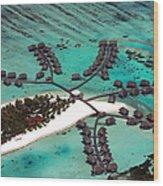 Maldives Aerial Wood Print