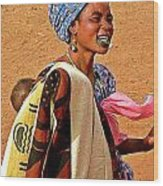 Malian Beauty Wood Print