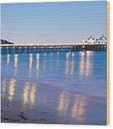 Malibu Pier Reflections Wood Print
