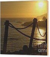 Malibu Sunset Wood Print by Micah May